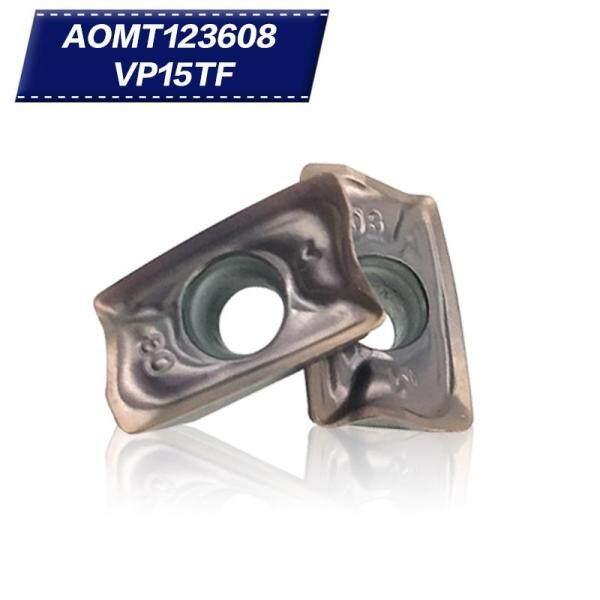 20Pcs AOMT123608 VP15TF Chèn Cacbua Công Cụ Cắt Dụng Cụ CNC Dụng Cụ Tiện Máy Cắt Tiện