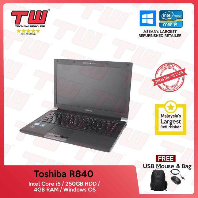 Toshiba Tecra R840 Core i5 / 4GB RAM / 250GB HDD / Windows OS Laptop / 3 Months Warranty (Factory Refurbished) Malaysia