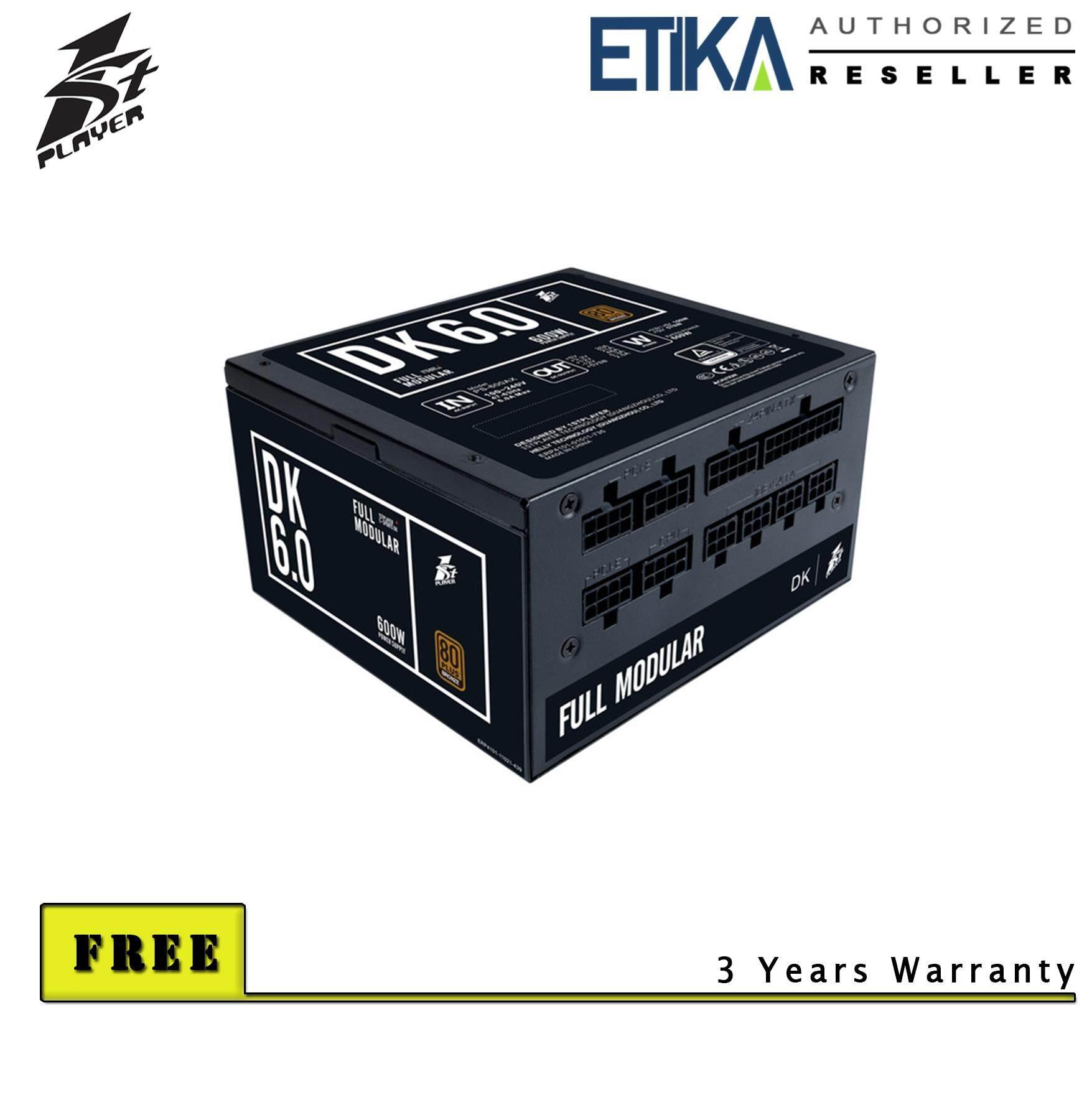 1st Player Dk6.0 600w 80+ Bronze Full Modular Power Supply (3 Years Warranty) By Etika Komputer S/b.