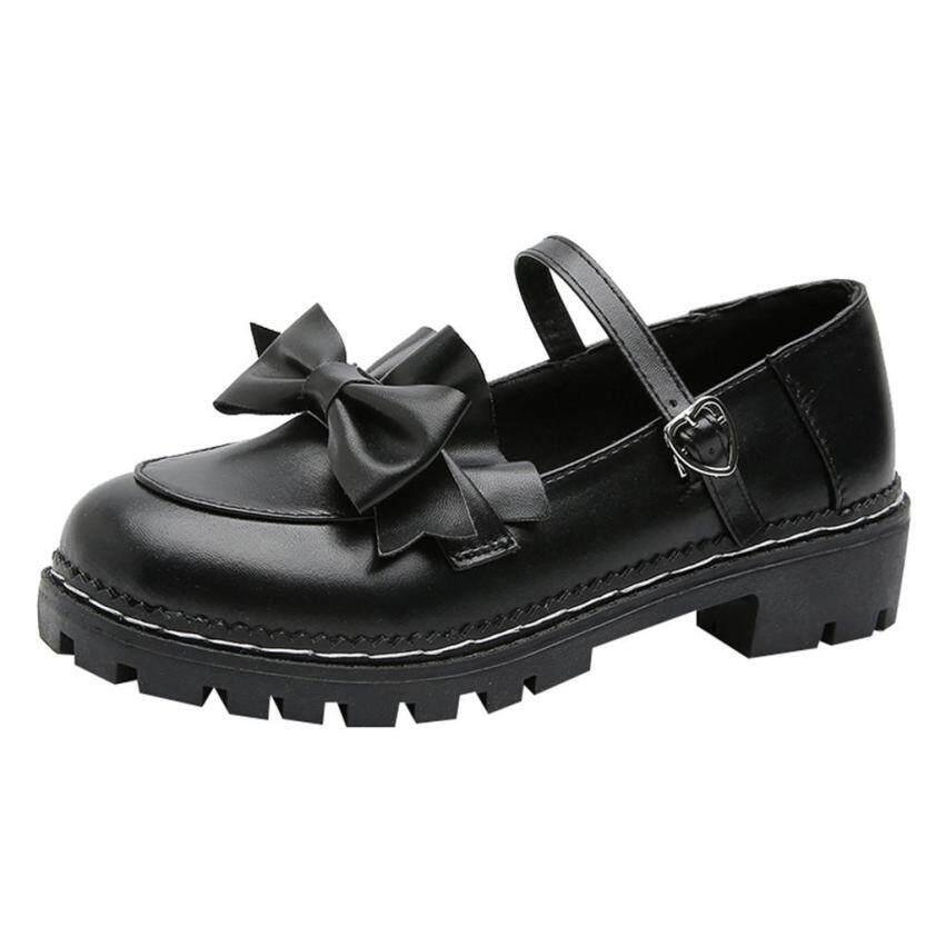 Giày Tròn Cho Bé Của Y_women Giày Nữ Dễ Thương Nơ Thời Trang Đế Dày Cho Học Sinh giá rẻ