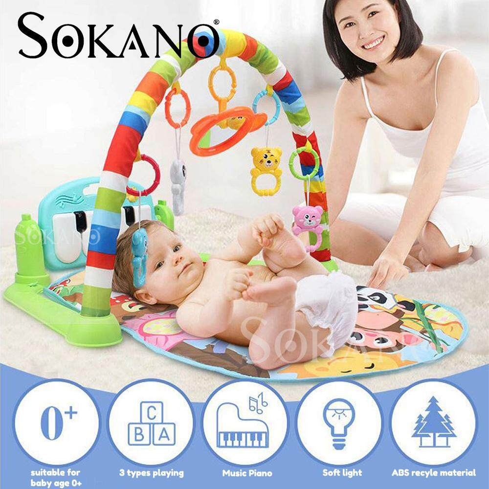 SOKANO BY698-61 Piano Type Baby Toddler Playgym Playmat Play Gym With Music & Lights