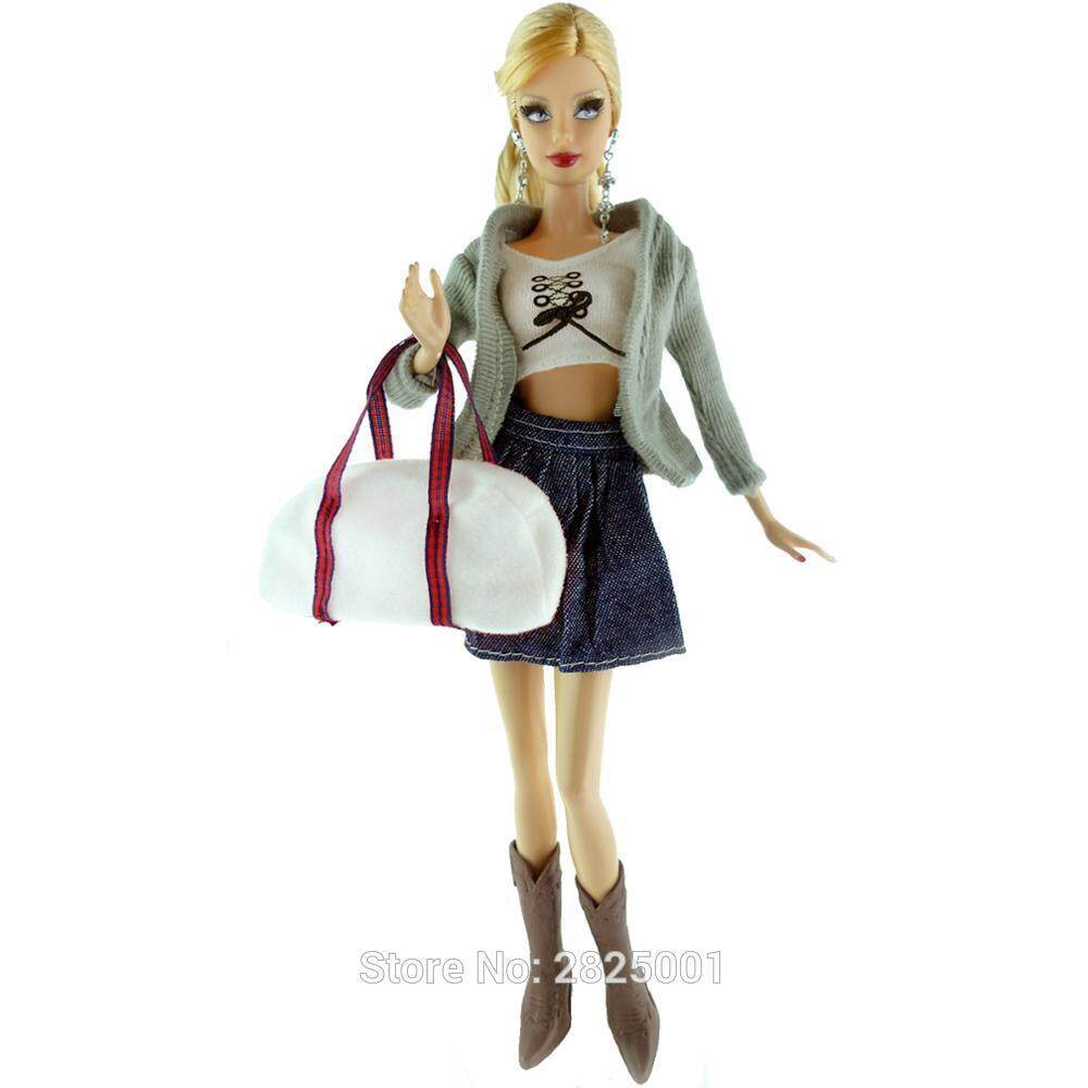 1set doll clothes outfit casual pants+coat+shirt for  doll accessories TO