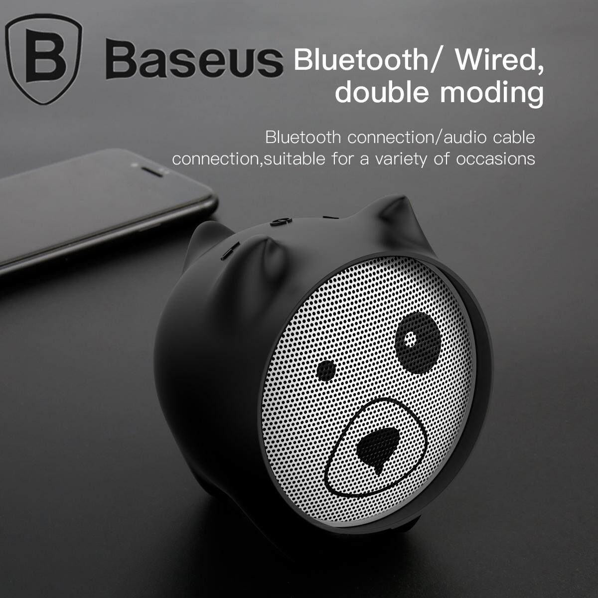 BASEUS Q E06 Lovely Dog Shaped Bluetooth Speaker with Mic / AUX-in for  iPhone Samsung Huawei Etc
