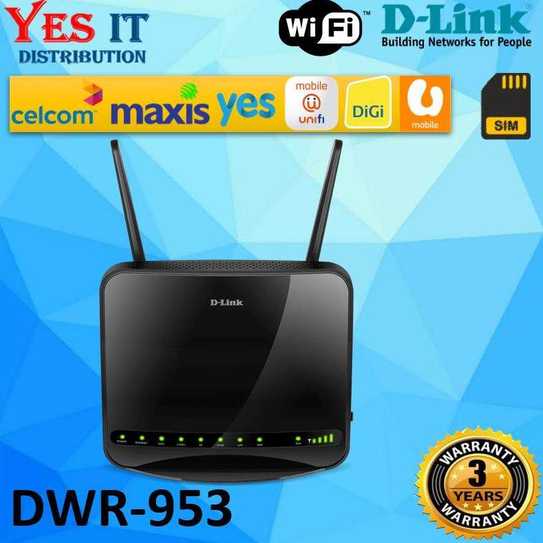 D-Link DWR-953 AC1200 Dual Band 4G Multi-WAN Wireless Router with Sim Card  Slot