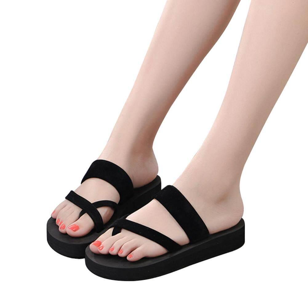 469b08b25 2019 New Women Summer Non-Slip Platform Shoes Wedges Woman Outdoor Beach  Slippers Sandals