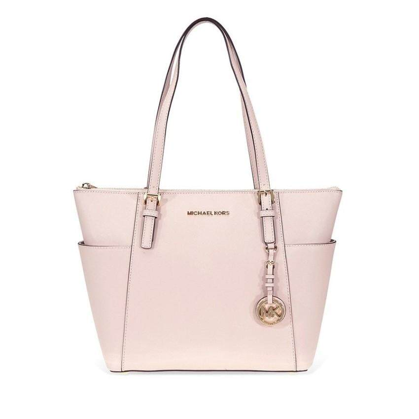 2adab3e6640e Michael Kors Jet Set Saffiano Leather Tote -Soft Pink 30F2GTTT8L-187