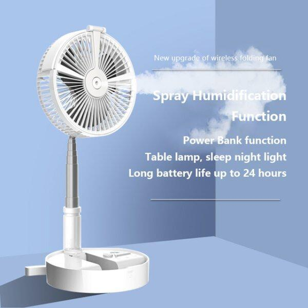 Portable USB Fans Telescopic Foldable Mini Fan Electric LED Fan Air Conditioner Cooler USB Rechargeable Small Desk Table Fans