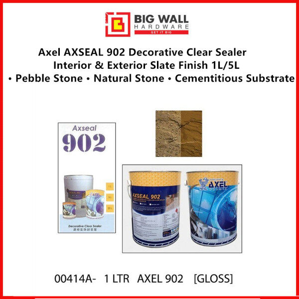 5L Axel AXSEAL 902 Decorative Stone/Brick Clear Sealer (Available in 1 & 5 Liter) Big Wall Hardware