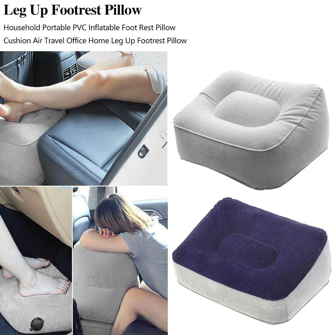 Soft Inflatable Foot Rest Pillow Footrest Relax Cushion Pad for Travel Home Car