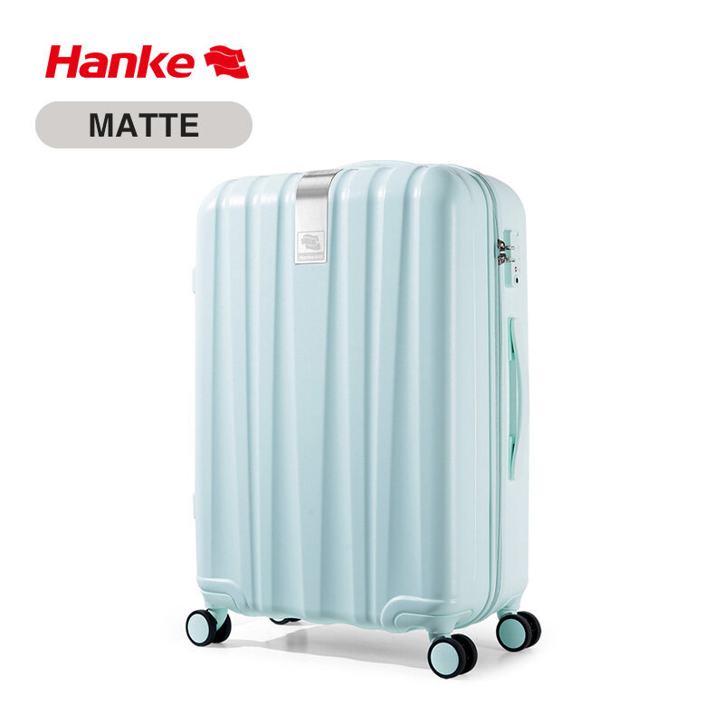 Hanke 26 Inch Men Women Spinner Luggage Suitcase 100% PC Trolley Case Travel Bag Rolling Wheels Luggage Checked-in Boarding  Suitcase Trip Journey H80002