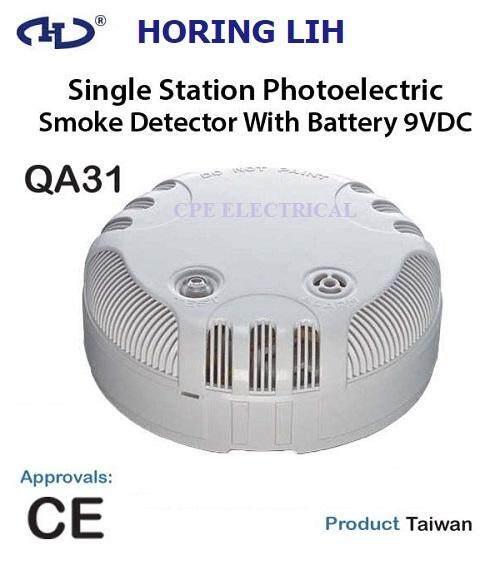 HORING LIH QA-31 SINGLE STATION SMOKE DETECTOR