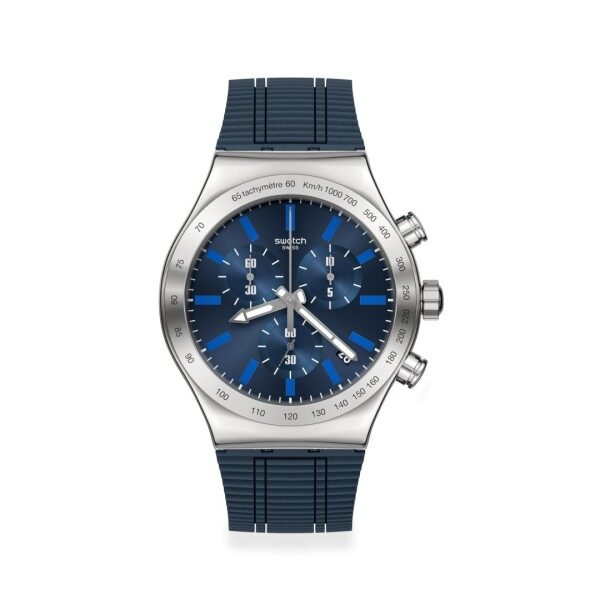 Swatch ELECTRIC BLUE Watch 43mm YVS478 Malaysia