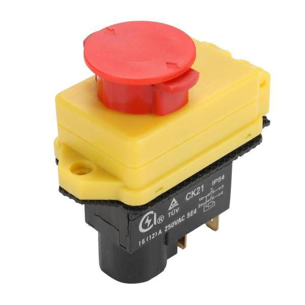 250V Universal CK21D/250V Safety Switch Emergency Stop Safe Cut Off Killer Waterproof and Dustproof Switches Electromagnetic Switch for Grinding Machine