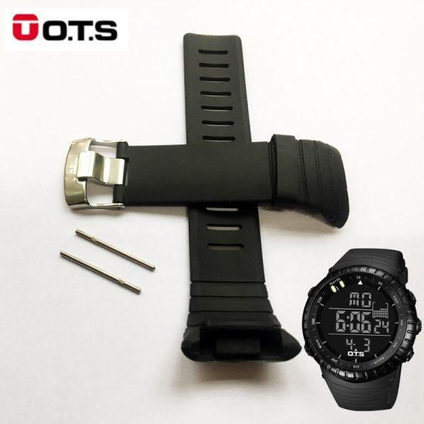 OTS 7005 Waterproof TPU Silicone Rubber Core Watch Spare Strap 210MM Length Band 24MM Width Repair Adjustable Replacement Malaysia