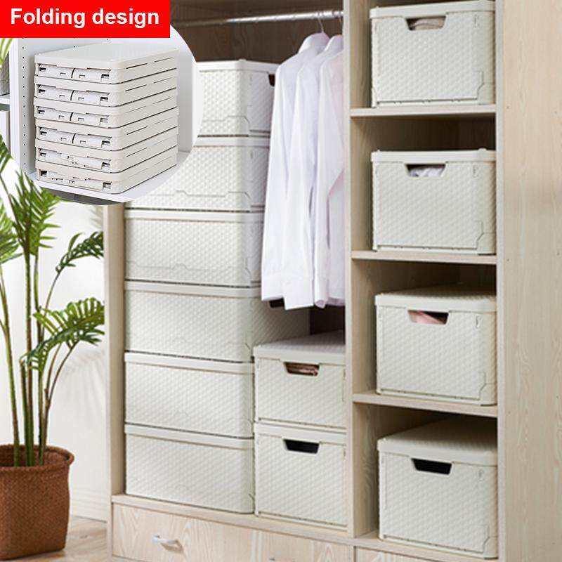 1PCS PLastic Folding clothes organizer wardrobe partition board rack drawer clothes storage box bedroom multi-layer stackable storage rack Wardrobe Organisers  (43.8X33X24.5CM)