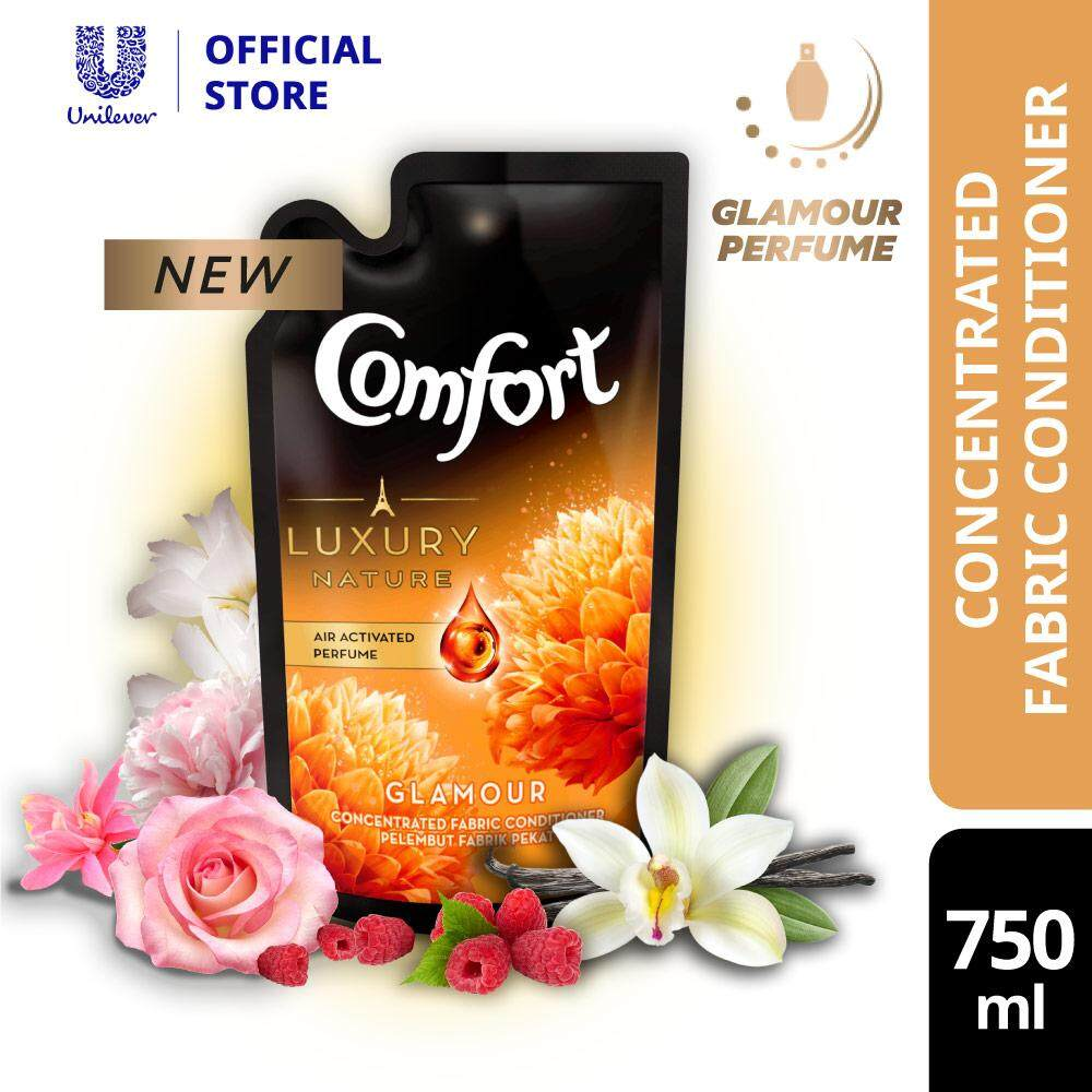 Comfort Luxury Nature Glamour Perfume Concentrated Fabric Conditioner Refill 750 ml