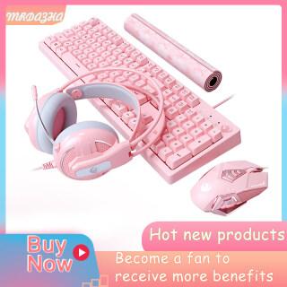 Bàn Phím Cơ Màu Hồng, Đèn Nền LED Trắng Công Tắc Xanh 104 Phím Bàn Phím Chơi Game USB Nhỏ Gọn Màu Hồng Có Dây Xây Dựng Kim Loại Chống Nước Dành Cho Game Thủ Máy Tính Xách Tay Windows PC thumbnail