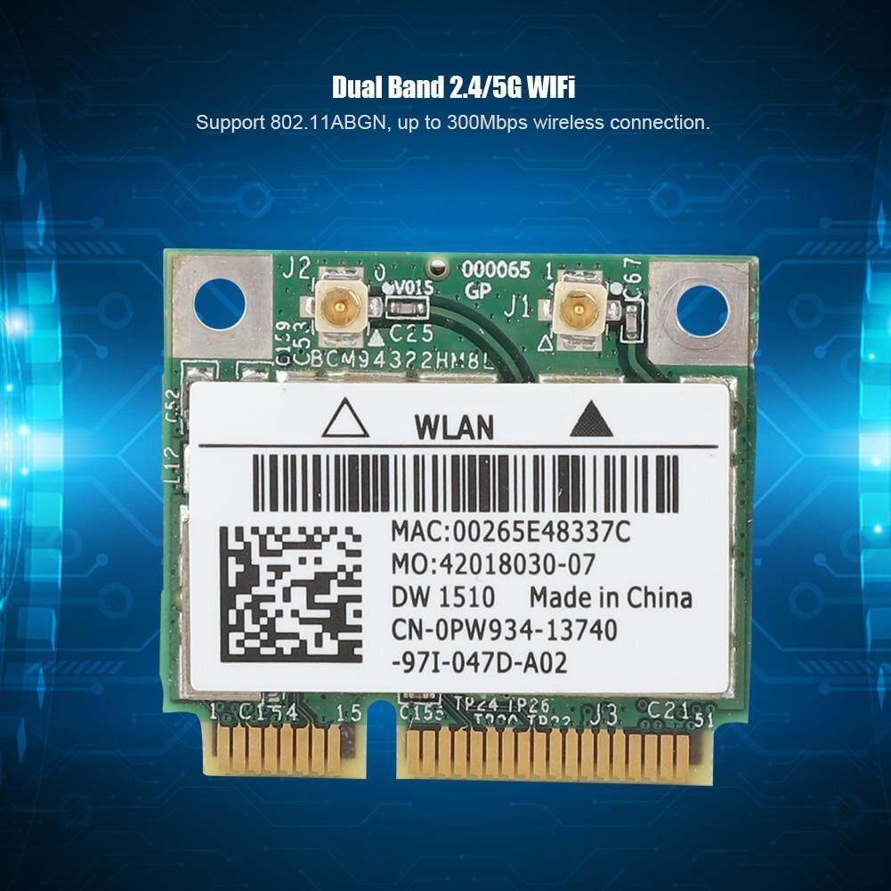 Giá BCM94322HM8L DW1510 Băng Tần Kép 300 Mbps Mini PCI-E Card Mạng Không Dây Cho E4200 E5500