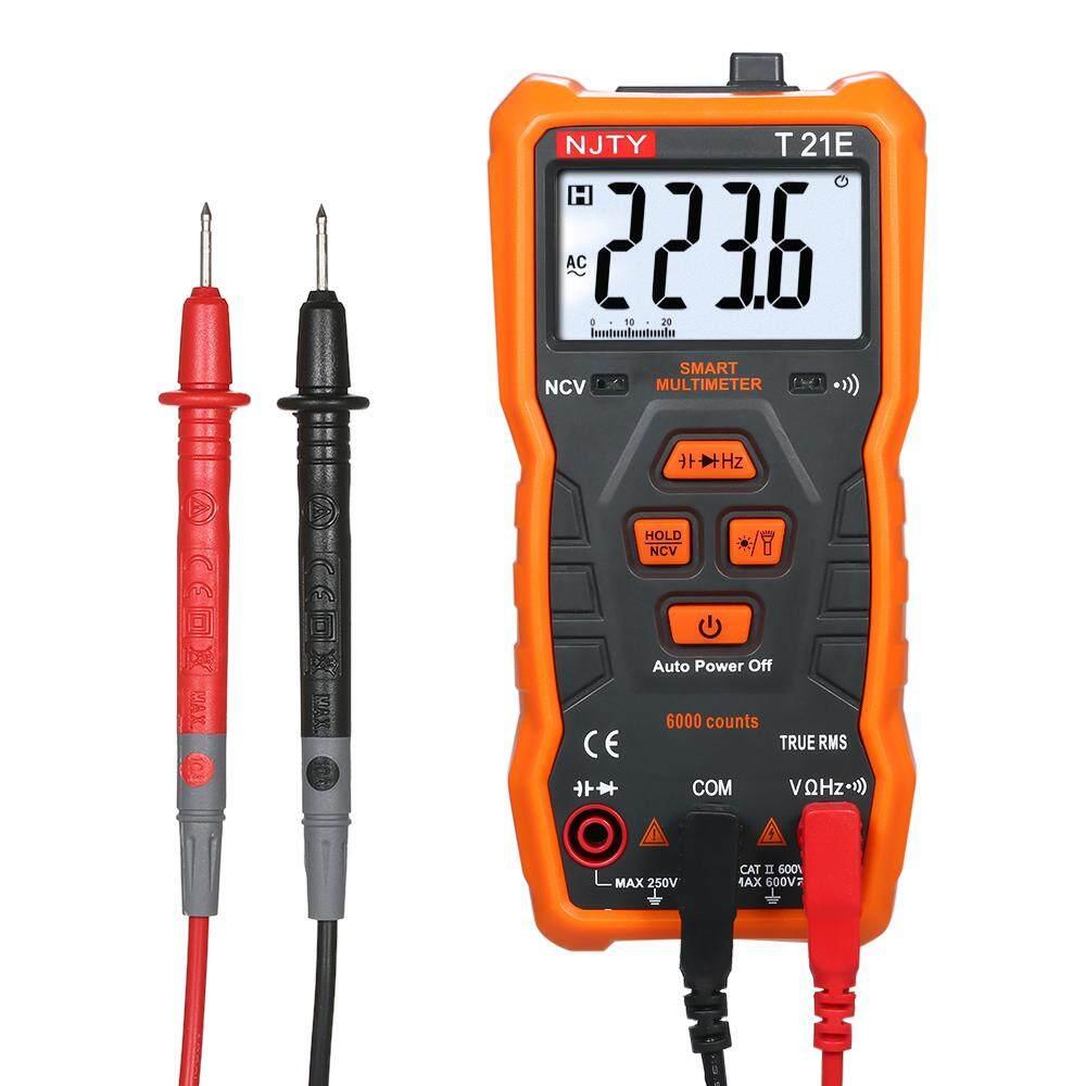 NJTY Digital Multimeter Mini Handheld Multi-meter Voltmeter True RMS NCV DC/AC Voltage Resistance Diode Tester