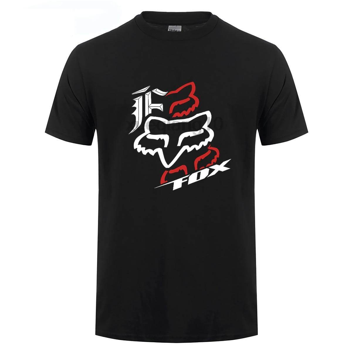 2018 best sell tshirt fox racing t-shirt logo clothing desktop wallpaper