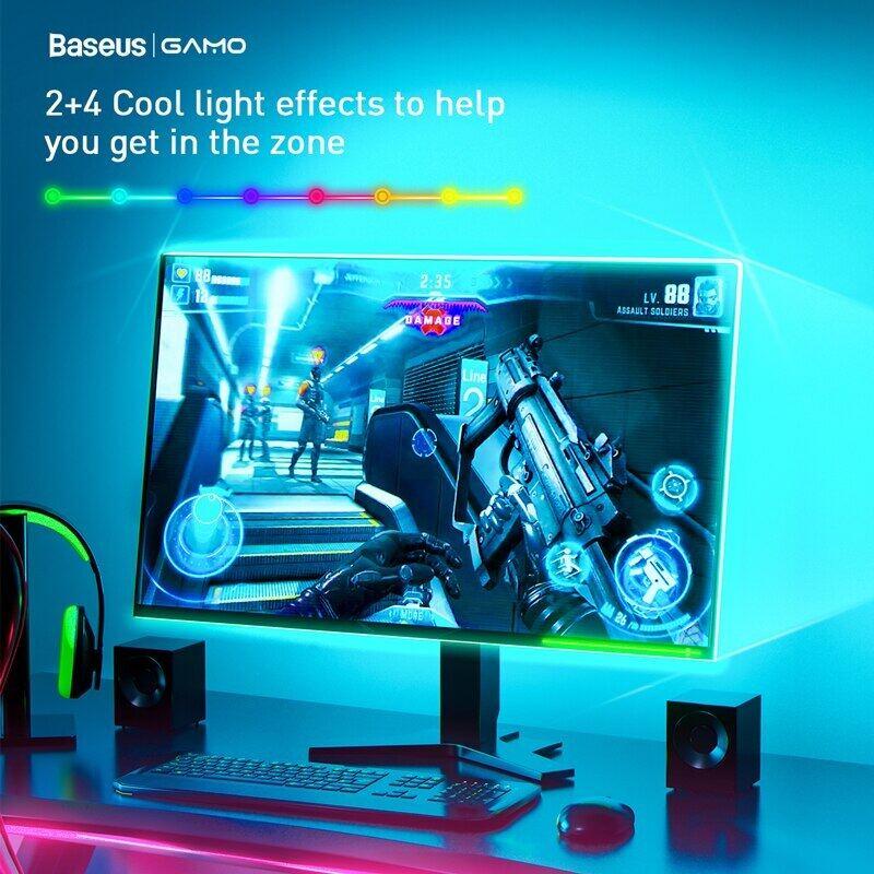 Bảng giá Baseus 5M Đèn Dải Led Rgb 5050 Đèn Led Chơi Game Linh Hoạt Băng Ruy Băng 12V Tự Làm Hào Quang Đồng Bộ Ánh Sáng Cho Máy Tính Để Bàn Đèn Trang Trí Máy Tính Phong Vũ