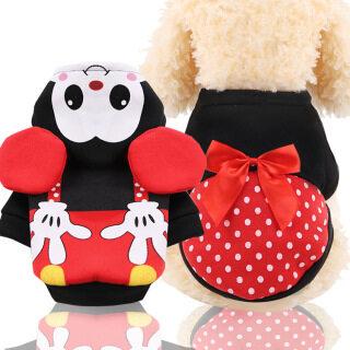 YUNYUAN Dễ Thương Carton Minni Micky Cosplay Pet Quần Áo Thoáng Khí Mùa Hè Dog Vest 3D Bow Ear Sóng Dot In Con Chó Nhỏ Biến Đổi Hoodie thumbnail