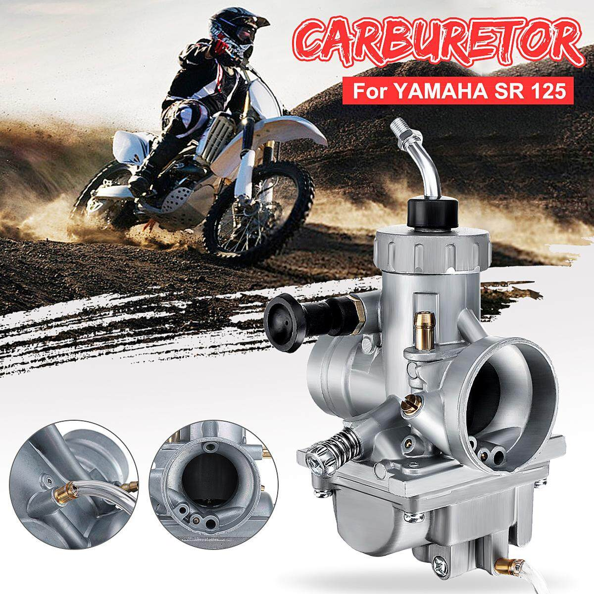 【free Shipping + Flash Deal】new Metal Motorcycle Carburetor For Yamaha Sr 125 All By The One..