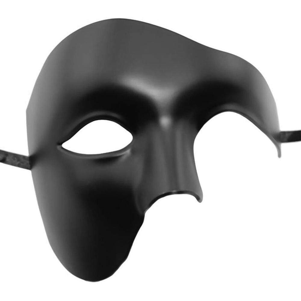 GoodToy Men's Party Opera Phantom Style Props Halloween Masquerade Mask for Costumes Carnival Party Halloween - Intl (Black, White)