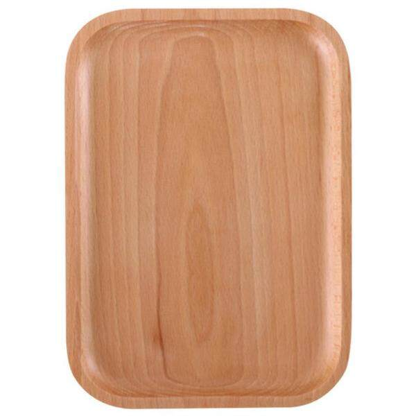 Elm Rectangular Wooden Snack Bowl Dish Sauce Snack Service Tray Tableware