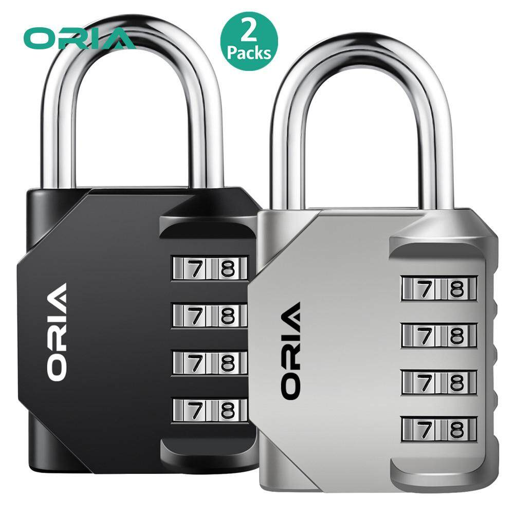 [CNY 2020] ORIA 4 Digit Combination Lock 2 Pack Padlock for School Employee Gym & Sports Locker Case Toolbox Fence Hasp Cabinet & Storage - Metal & Plated Steel