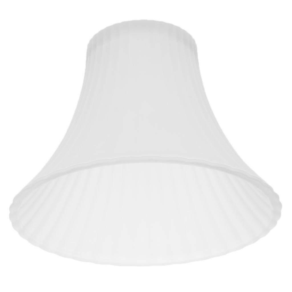 BolehDeals Ceiling Fan Light Tulip Ruffle Crimp Shade Frosted Vintage Lamp Shade