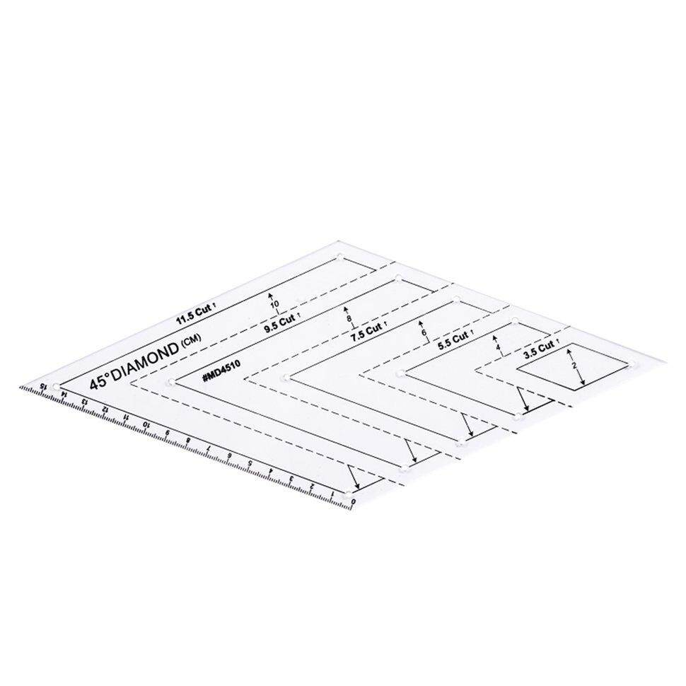 BGD 45 degree parallelogram flat ruler Diamond ruler DIY patchwork manual ruler