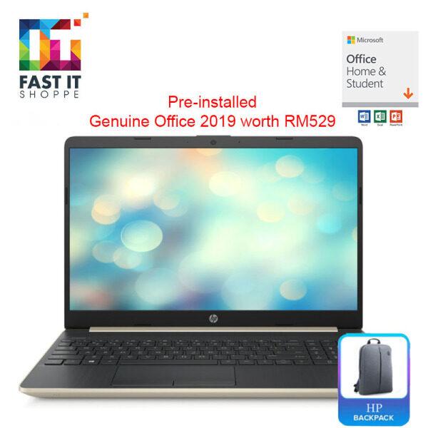 HP 15S-DU1074TX PALE GOLD with OPI ( I5-10210U,4GB,512SSD,MX130 2GB,15.6 FHD,W10,2YRS ) Malaysia