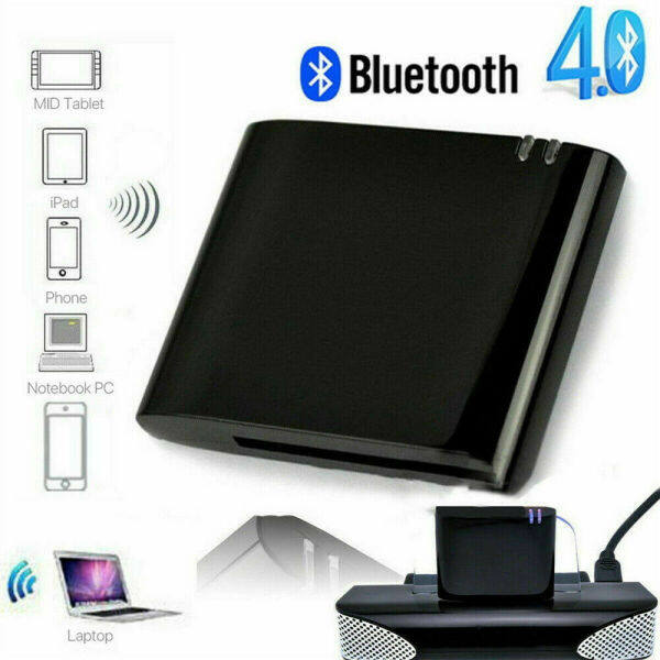 sanhe Bluetooth v2.1 A2DP Music Receiver Adapter 30 Pin Dock Connector for iPad iPhone Apple speaker 30 Pin Receiver