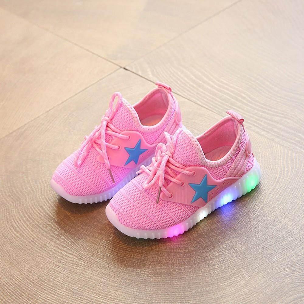 Giá bán CocolMax Trẻ EmTrẻ em Bé Trai Bé Gái Lưới Đèn LED Dạ Quang Thể Thao Chạy GiàyGiày