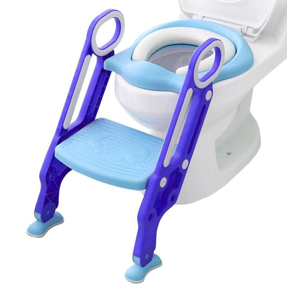 LayOPO Toddler Potty Training Seat Potty Training Seat with Step Stool Ladder Anti-Slip Pads Ladder for 1-7 Kids