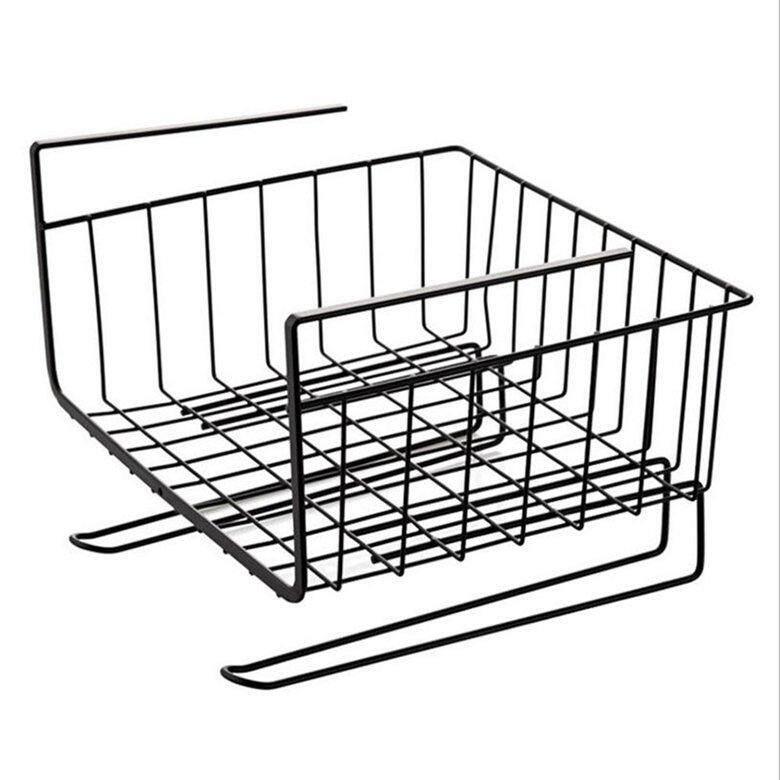HORI Wardrobe wrought iron storage rack Household kitchen cabinet under the shelf