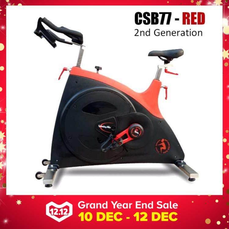 Professional CSB77 Commercial GYM Room Spinning Exercise Bike 23KG Flywheel, 68KG Stainless Steel Body Frame