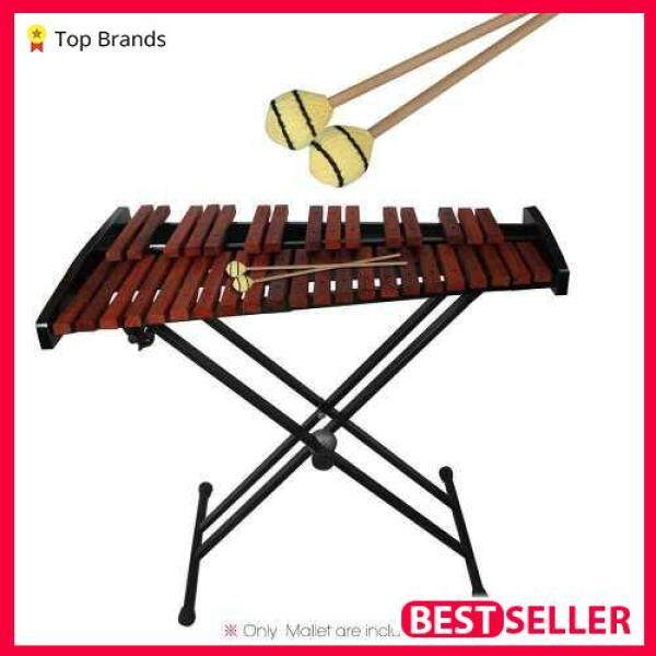[SPECIAL PROMO] Marimba Stick Mallets Xylophone Glockensplel Mallet with Beech Handle Percussion Instrument Accessories for Professionals Amateurs 1 Pair (Wood Color) Malaysia