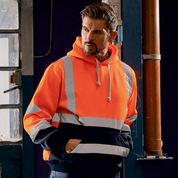 Miracle Shining Safety High Visibility Mens Hoodie Sweatshirt Tops Sports Roadside Emergency