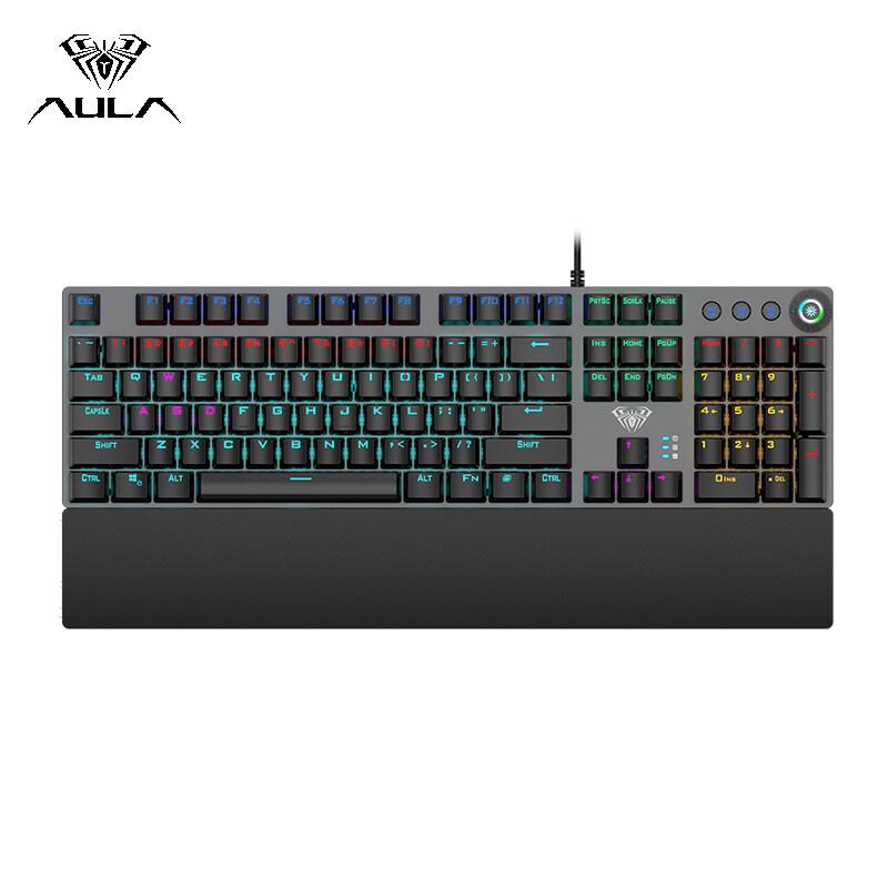 AULA F2058 Game Mechanical Keyboard RGB Backlight Keyboard Macro Programming Professional Gaming Keyboard for Computer Desktop Laptop Singapore