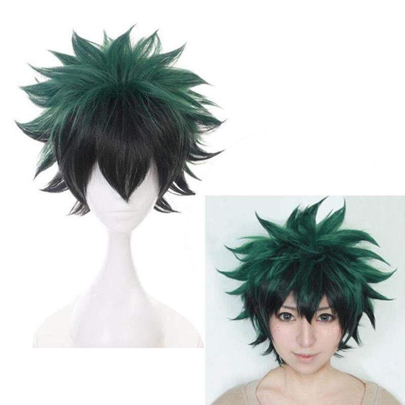 Cosplay Wig Anime My Hero Academia Deku Izuku Midoriya Green Short Wig By Blessing From China.