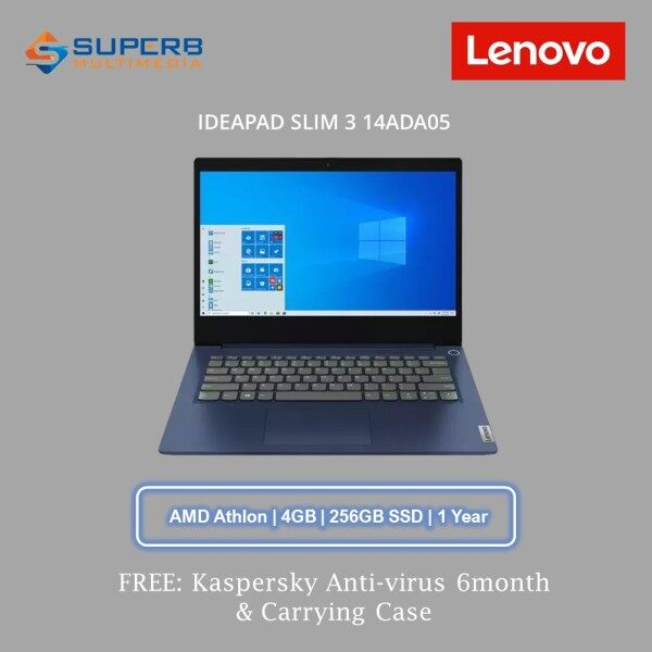 Lenovo IDEAPAD SLIM 3 14ADA05 (AMD Athlon, 4GB Ram, 256GB SSD, 14 Inch, Win10, Blue) 81W0002FMJ Laptop Malaysia