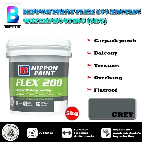 NIPPON PAINT FLEX 200 ARCYLIC WATERPROOFING (5KG) WHITE / GREY