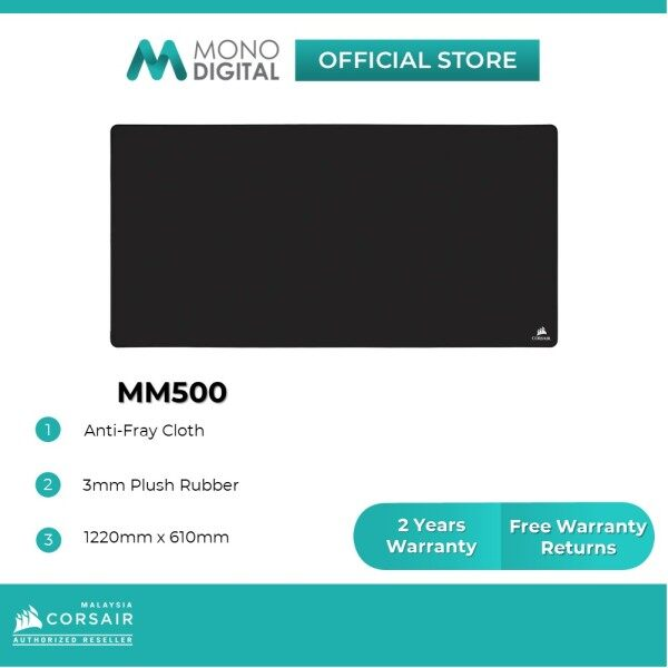 CORSAIR MM500 Premium Anti-Fray Cloth Surface Extended 3XL Gaming Mouse Pad Malaysia