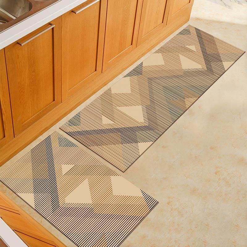 2PCS Modern Anti-slip Kitchen Floor Mat Washable Bathroom Entrance Door Rugs Foot Pad 40x60CM and 40x120CM