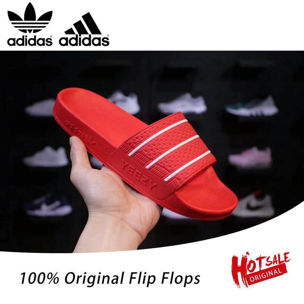 e02788a9c75d SLK ☆ Summer flip flops Adidas Yeezy SLIDES SANDALS Kanye West women men red  sandals