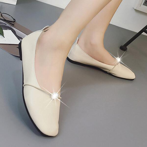 Los Boutique Trang Trí Ngọc Trai Giày Dáng Thuyền Cho Phụ Nữ Giản Dị Trang Phục Đường Phố Trượt Trên Đôi Giày Lười Giày 2020 Hàng Mới Về Giày Nữ giá rẻ