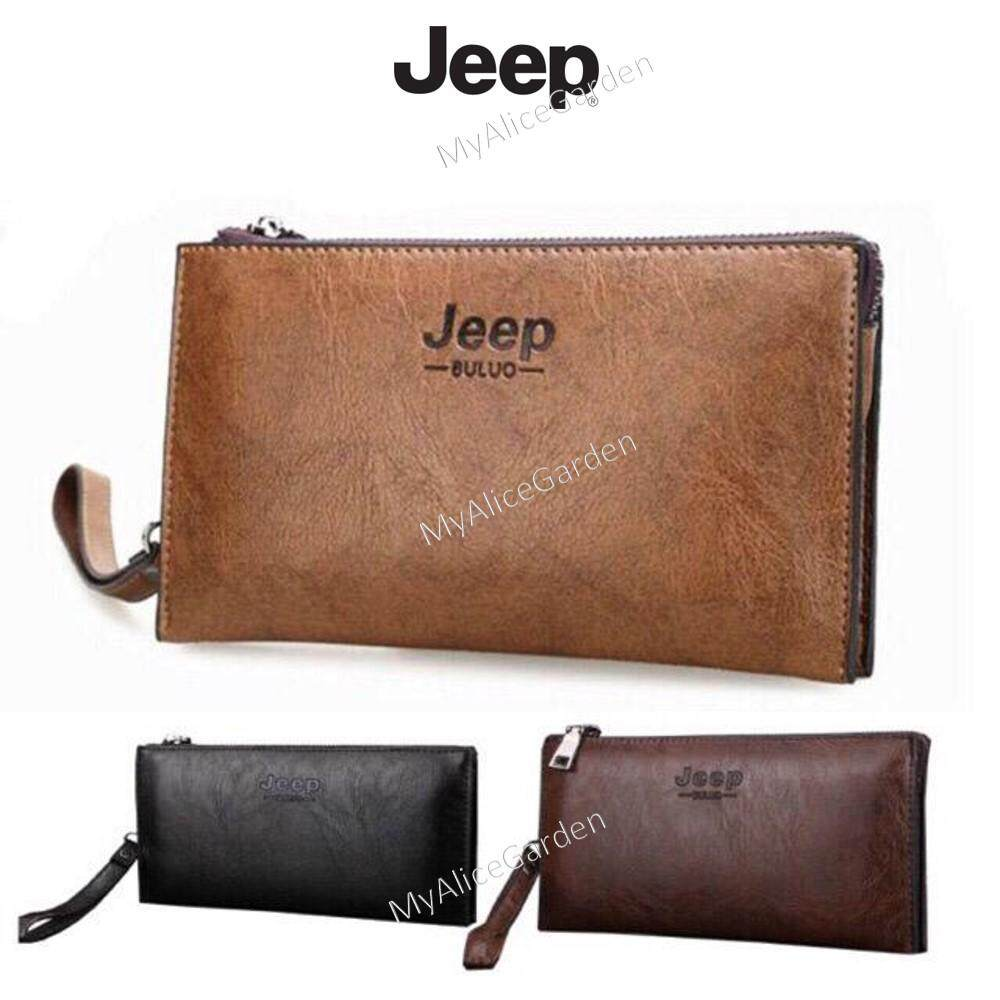 b7285b8f54f JEEP BULUO Famous Brand Leather Day Clutches For Men Wallet Bags Handbag  Dompet Lelaki