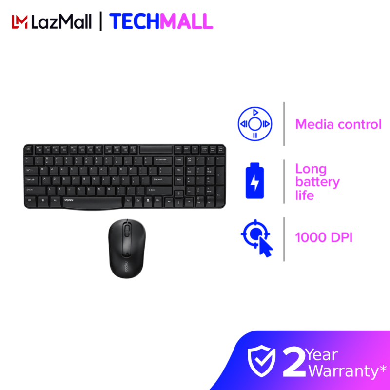 Rapoo X1800S Wireless Optical Mouse & Keyboard Combo [2 Years Official Warranty] Malaysia